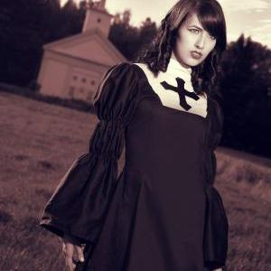 Gothic Lolita Nun Dress Black Goth ..