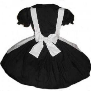 Cute Goth Nun Dress and Apron Cospl..