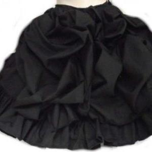Black Steampunk Skirt Bustle Ruffle..