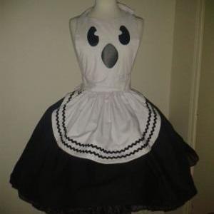 Cute Ghost Apron Halloween Costume ..