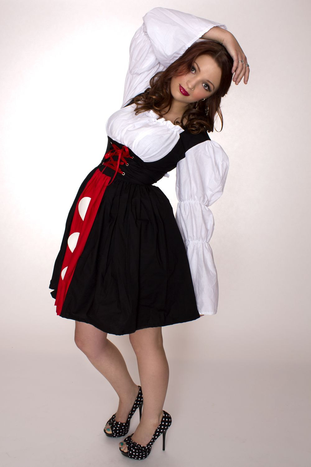 Queen of Hearts Dress Alice in Wonderland Halloween Costume Custom Size Plus Size Made to Measure