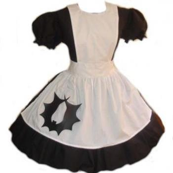 Gothic Bat Alice in Wonderland Dress and Apron Gothic Lolita Dress Halloween Costume Cosplay Custom Size Plus Size Made to Measure