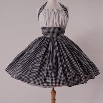 Gingham Halter Dress Retro Rockabilly Pin up Pinup Halter Swing Country Girl Dress Custom Size Made to Measure Plus Size
